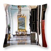A Corridor In Keraton Sultan Palace Yogyakarta  Throw Pillow