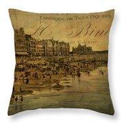 A Cote De La Mer Throw Pillow