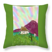 A Cottage In The Alps Throw Pillow