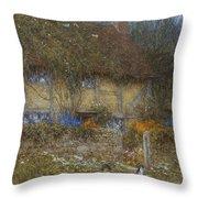 A Cottage Near Godalming Surrey Throw Pillow