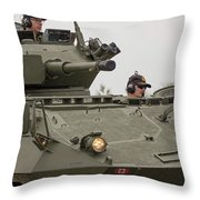 A Cougar With A 76 Mm Bite - Cougar Avgp Throw Pillow