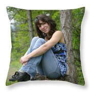 A Country Girl  Throw Pillow