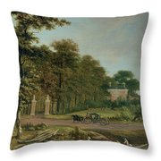 A Country House Throw Pillow
