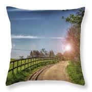 A Country Lane Throw Pillow