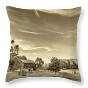 A Country Place 3 - Sepia Throw Pillow