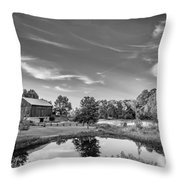 A Country Place Bw Throw Pillow