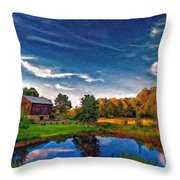 A Country Place Painted Version Throw Pillow