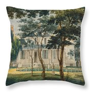 A Country Residence Possibly General Moreau's Country House At Morrisville Pennsylvania Throw Pillow