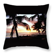 A Couple On The Shore Throw Pillow