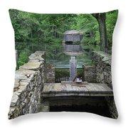 A Covered Bridge Throw Pillow