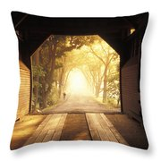A Covered Bridge In New Market Throw Pillow