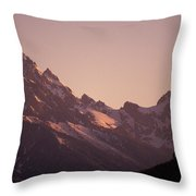 A Cowboy Horseback Riding Silhouetted Throw Pillow