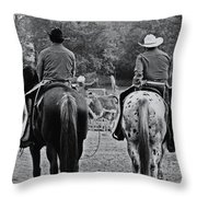 A Cowboys Life Throw Pillow
