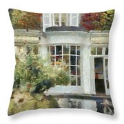 A Cozy House In Brittany Throw Pillow