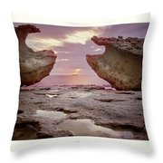 A Crab Stone, By The Cosmic Joker Throw Pillow