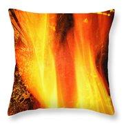 A Cracking Flame Throw Pillow