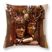 A Creative Metalworks Door Throw Pillow