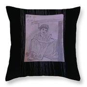 A Cricket Player Throw Pillow