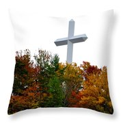 A Cross In Tennessee Throw Pillow