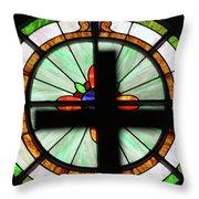 A Cross Window Throw Pillow