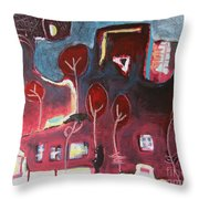 A Crow And A Cat Throw Pillow