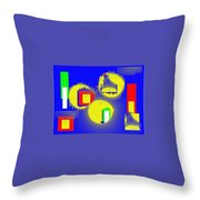 A Crowd Of Three Throw Pillow