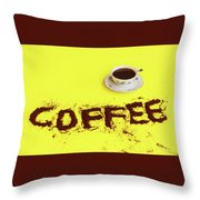 A Cup Full Of Coffee Throw Pillow