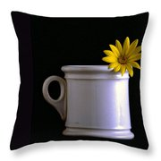 A Cup Of Flower Throw Pillow