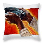 A Cup Of Water Throw Pillow
