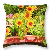 A Daisy Day Throw Pillow
