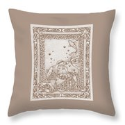A Dance Around The Bubbles Throw Pillow