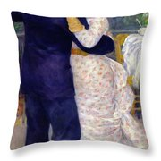 A Dance In The Country Throw Pillow by Pierre Auguste Renoir