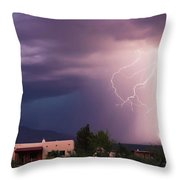 A Dance Of Lightning In The Foothills Throw Pillow