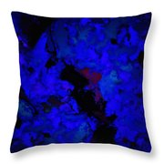 A Dark Blue Crash Throw Pillow