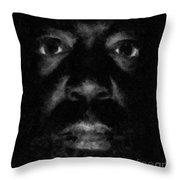 A Dark Proud Man Throw Pillow