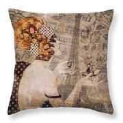 A Date With Paris II Throw Pillow