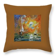 A Date With The Sunset Throw Pillow