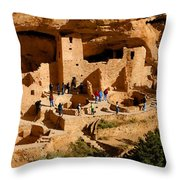A Day At Mesa Verde Throw Pillow