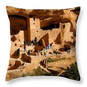 A Day At Mesa Verde Throw Pillow