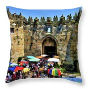 A Day At The  Bazaar Throw Pillow