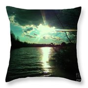 A Day At The Lake Throw Pillow by Robin Coaker