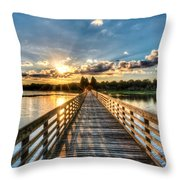 A Day At The Lake Throw Pillow