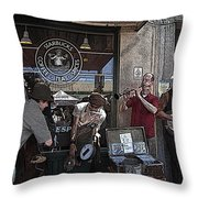 A Day At The Market 2 Throw Pillow