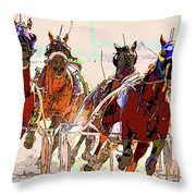 A Day At The Races 2 Throw Pillow