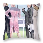 A Day At The Races Throw Pillow by Arline Wagner