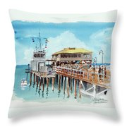 A Day At The Shore Throw Pillow
