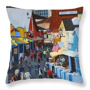 A Day At The Wharf Throw Pillow