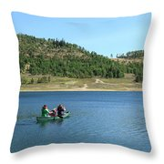 A Day In A Canoe Throw Pillow