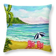 A Day In Paradise #354 Throw Pillow