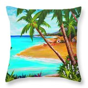 A Day In Paradise Hawaii #359 Throw Pillow